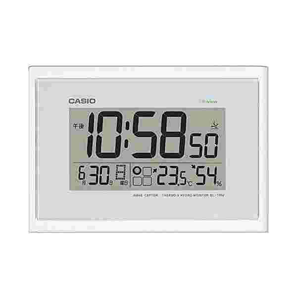 CASIO (カシオ) 電波デジタル掛け時計 温度湿度表...