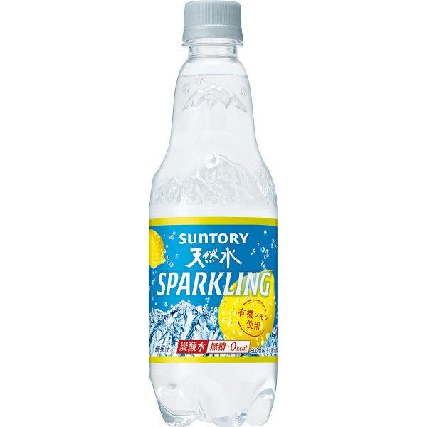【送料無料】サントリー 天然水 スパークリングレモン 500ml 1ケース24本×2ケース