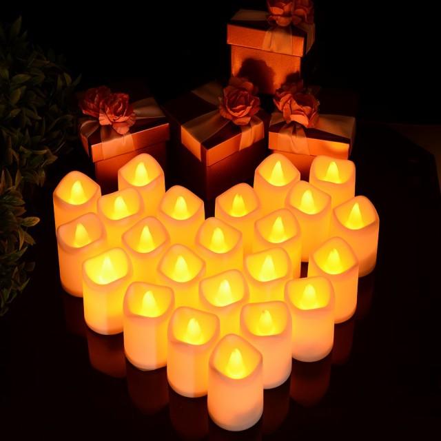 LEDキャンドル 蝋燭 キャンドルライト 24個セッ...