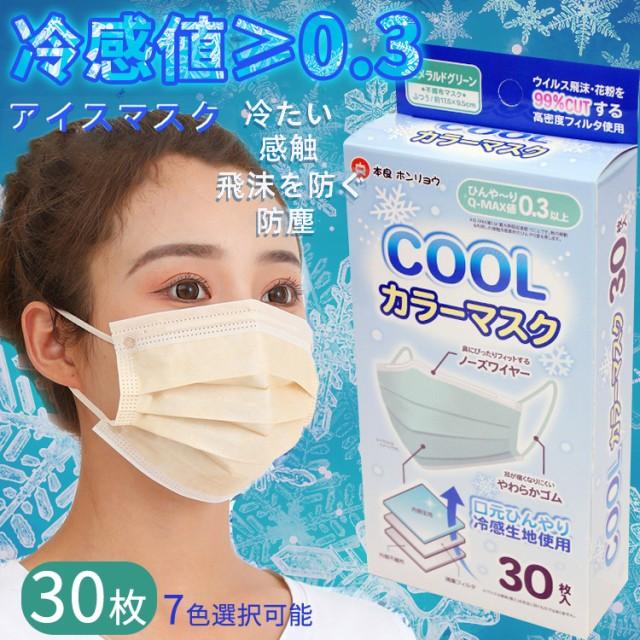 30枚入り 冷感マスク 冷感コールドマスク 大人用 ...
