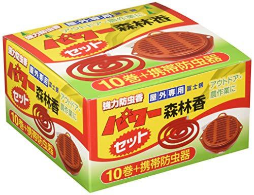 コダマ パワー森林香 10巻 携帯防虫器セット 屋外...