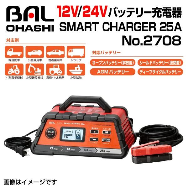No.2708 12V/24Vバッテリー充電器 SMART CHARGER...