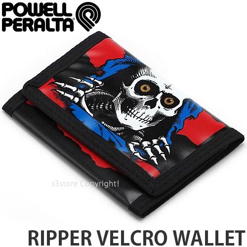 パウエル RIPPER VELCRO WALLET カラー:Blue/Red ...
