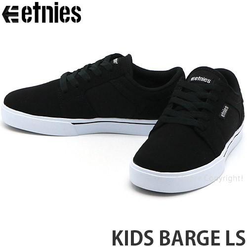 エトニーズ KIDS BARGE LS カラー:BLACK/WHITE