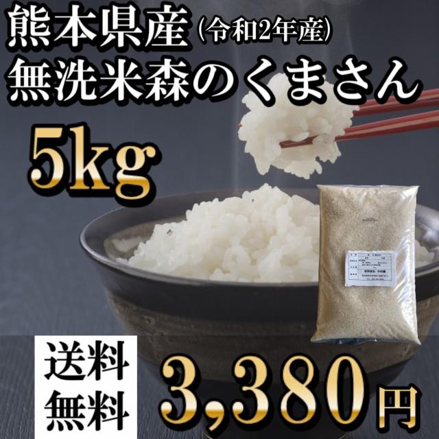 米 5kg 無洗米 森のくまさん 送料無料 熊本産 令...