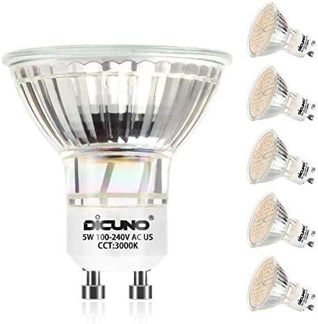 DiCUNO LED電球 GU10口金 50W形ハロゲン相当(5W...