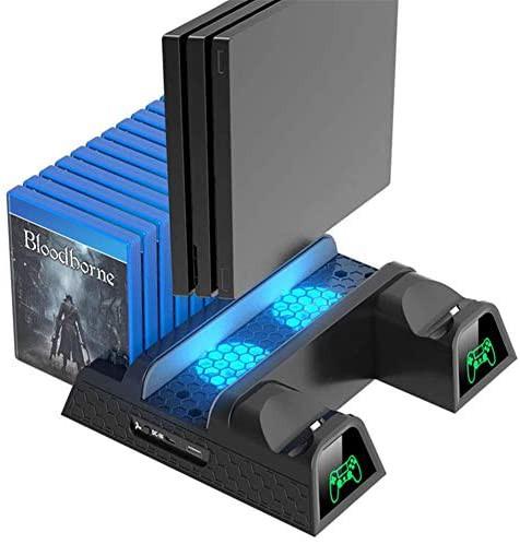 PS4スタンド PS4スリム PS4 PRO 多機能縦置きスタ...