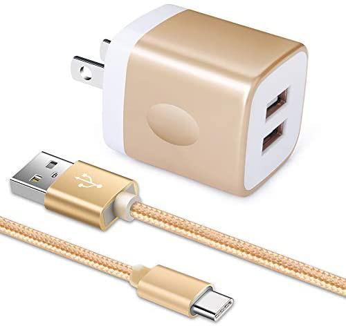 「2ポートUSB充電器*1個+USB Type-Cケーブル1m*1...