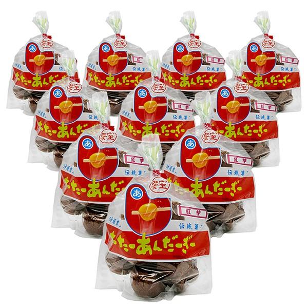 安室の紅芋さーたーあんだぎー(10個入り×10袋セ...