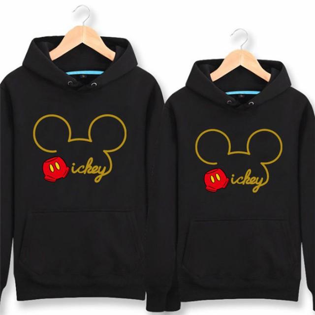 ミッキー パーカー Disney ペアルック カップル ...