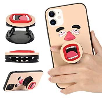 iPhone 11 ケース キュート 3D 面白い顔 口付き ...