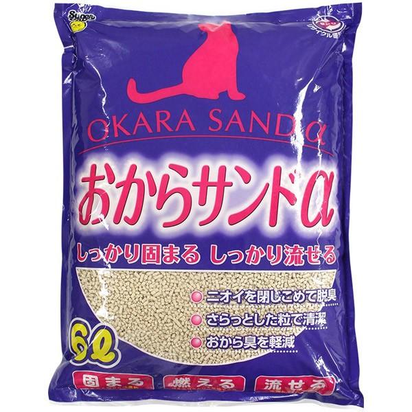 スーパーキャット:おからサンドα6L 猫 トイレ 砂...