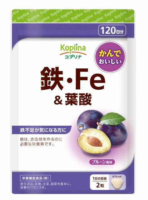 鉄 鉄分 鉄分補給 葉酸 チュアブルサプリ 鉄・Fe...