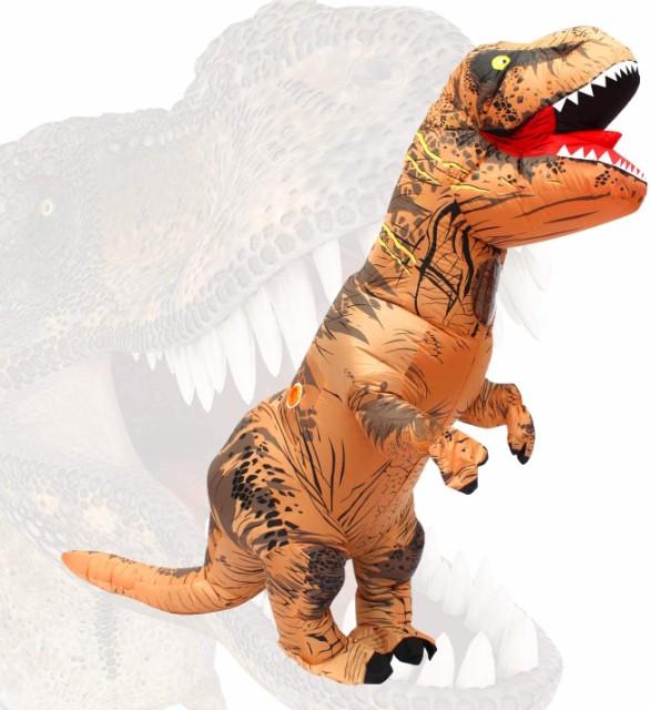 恐竜 きぐるみ 怪獣 コスプレ ティラノサウルス着...