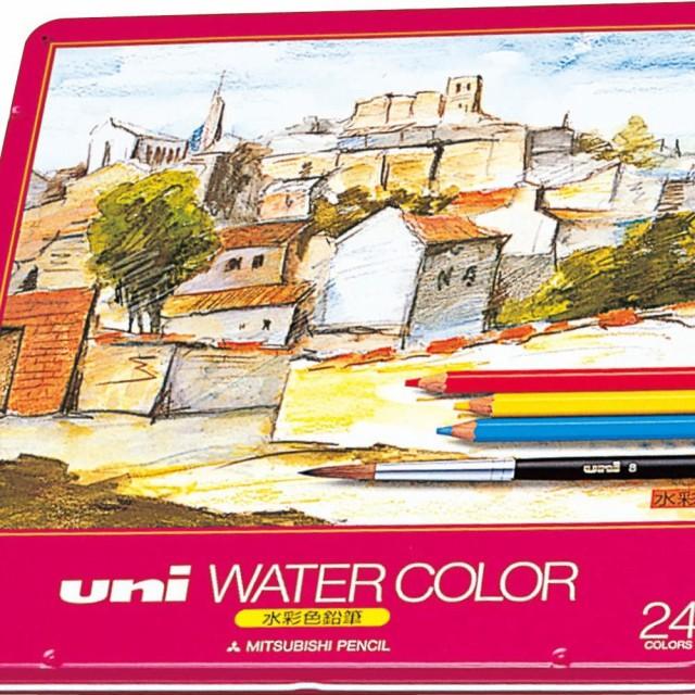 三菱鉛筆 水彩色鉛筆 ユニウォーターカラー 24色 ...