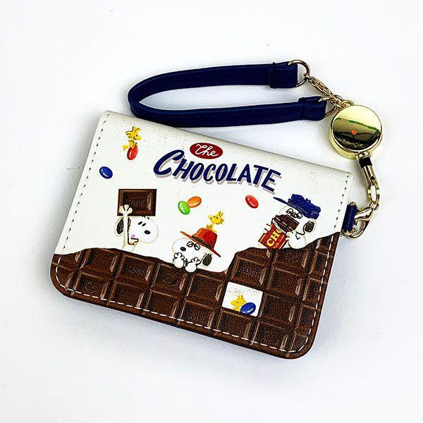 スヌーピー オープンパスケース チョコレート BL ...