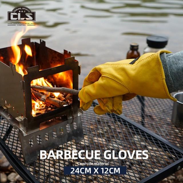 CLS 耐熱グローブ 革手袋 作業手袋 キャンプ 用品...
