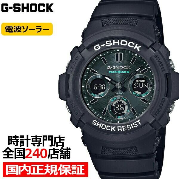G-SHOCK Gショック ブラック & グリーン AWG-M100...