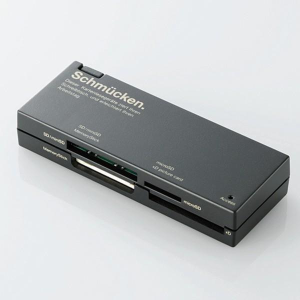 エレコム カードリーダー メモリーカード SD メモ...