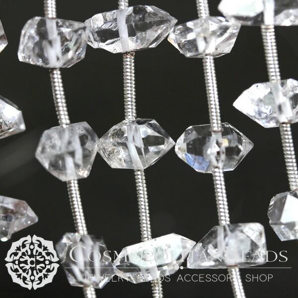 天然石ハーキマーダイヤモンド(ラフカット タン...
