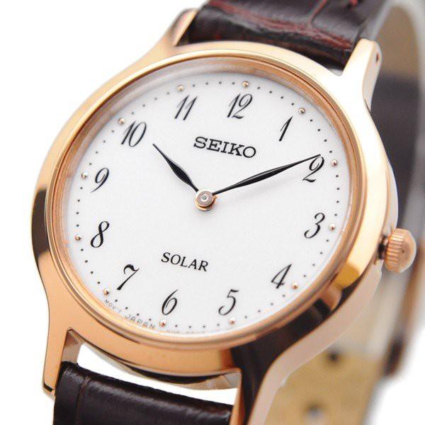 即日発送 送料無料 新品 腕時計 SEIKO セイコー 海外モデル ソーラー シンプル ビジネス カジュアル レディース SUP372P1
