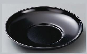 茶托 ダルマ茶托 黒干漆 4寸 ABS樹脂 f6-1447-23