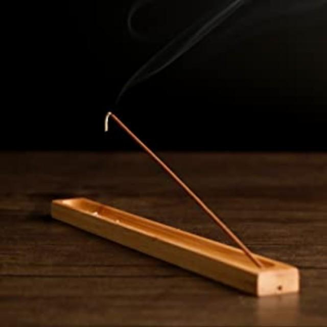 お香立 横置き 線香立て 竹製 線香炉 線香立て  ...