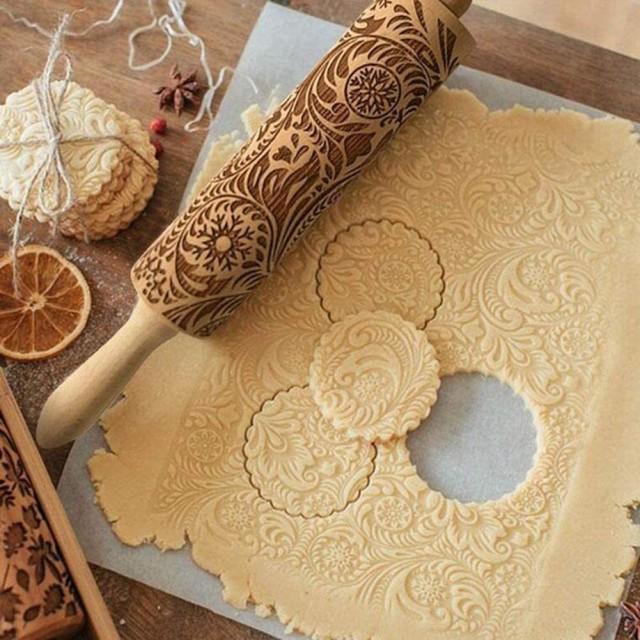 クッキー型 ローリングピン クッキー ローラー 麺...