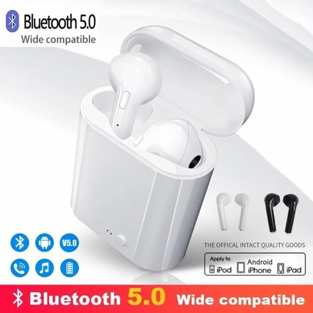 ワイヤレス イヤホン Bluetooth i7s ヘッドセット...