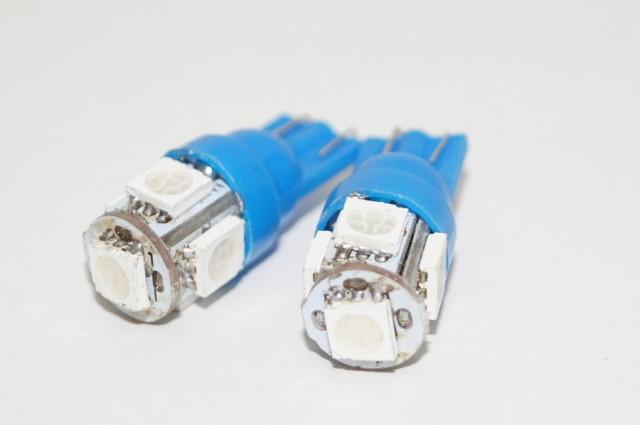 LED ウェッジバルブ T10 ブルー(2点セット)