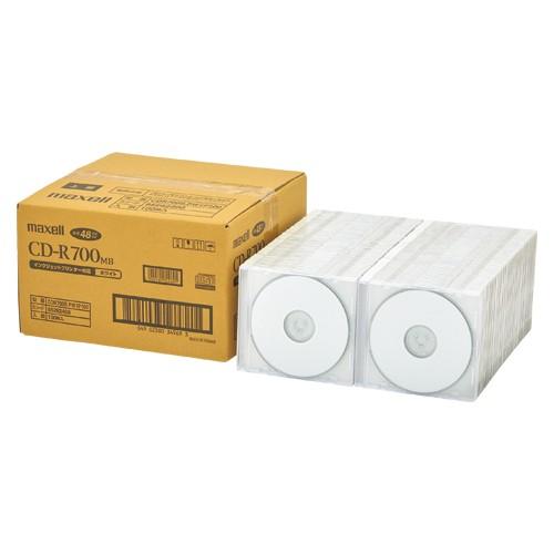 maxell 簡易包装CDR700MB、2~48倍速対応100枚、1...