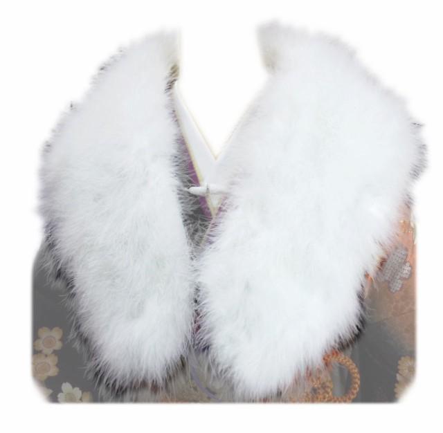(訳有り=少難あり) 羽毛ショール 白 箱なし 振...