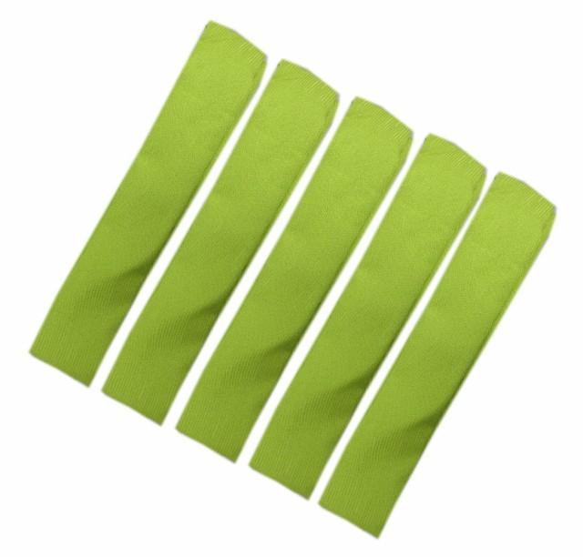 腰紐 こしひも ポリ 5本セット 地模様入り黄緑 和...