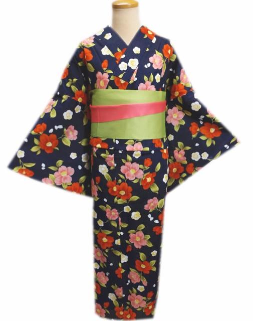ふくよかさん浴衣&長尺リバーシブル半巾帯2点セ...