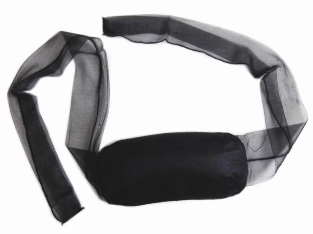 喪服用帯枕袋入黒色 菊柄 日本製 和装着物着付け...