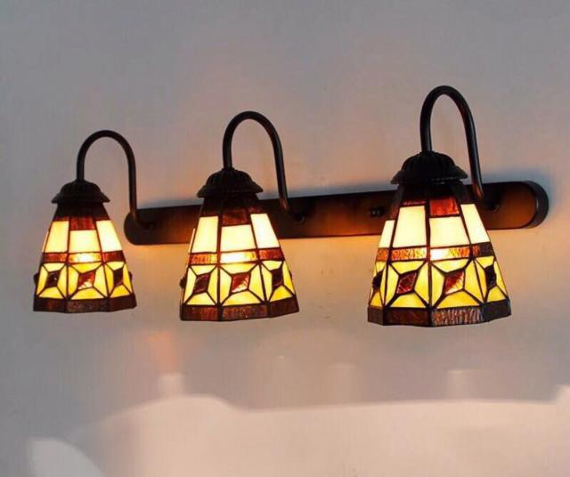 壁掛け照明 ステンドグラス ランプ 壁掛け灯 ガラ...