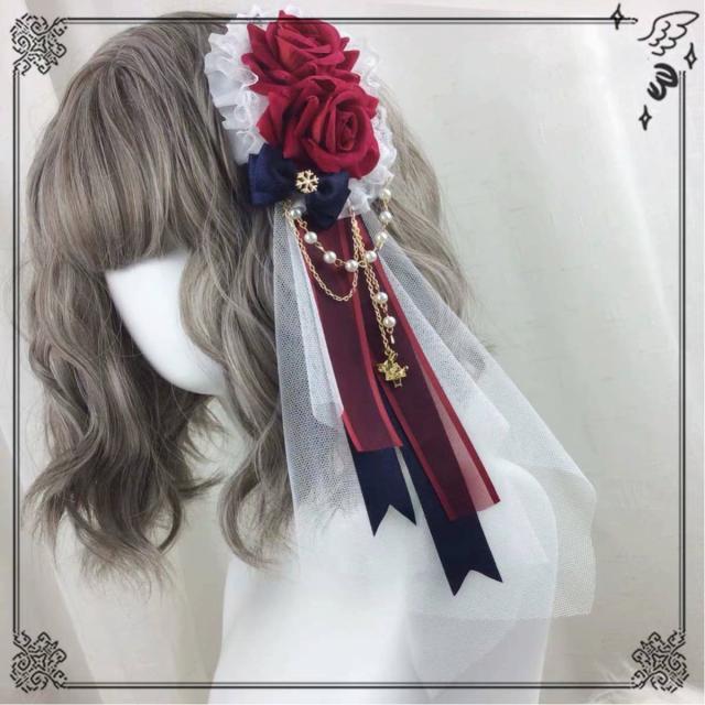 ヘッドドレス 髪飾り ロリータ 仮装 コスチューム...
