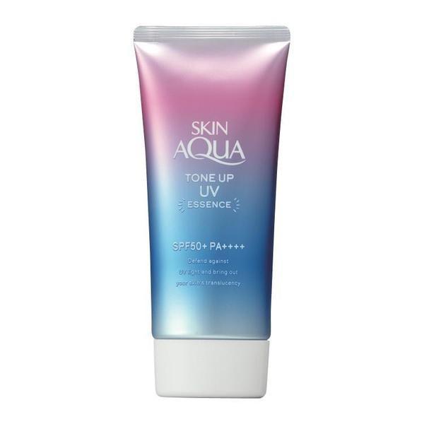 スキンアクア トーンアップ UVエッセンス SPF50+ PA++++ 80gロート製薬 SKIN AQUA 日焼け止め 透明感 汗 水 紫外線 化粧下地 カラーコン
