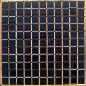 昔からのタイル 25mm角 黒ブライト N−20