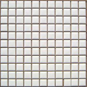 昔からのタイル 25mm角 白色ブライト N−1