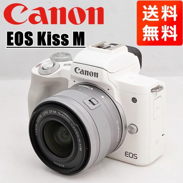 キヤノン Canon EOS Kiss M ホワイト 15-45mm レ...
