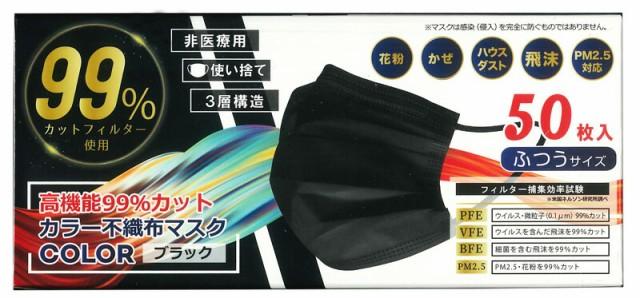 【50枚入り】【ブラック】 HIRO 高機能99%カッ...