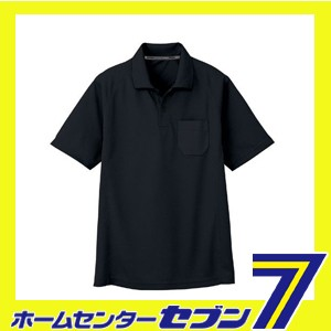 吸汗 速乾 半袖 ポロシャツ ブラック 5L AS-1657 ...