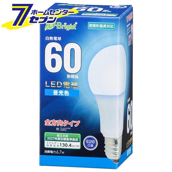 LED電球 E26 60形相当 全方向 昼光色 [品番]06-43...