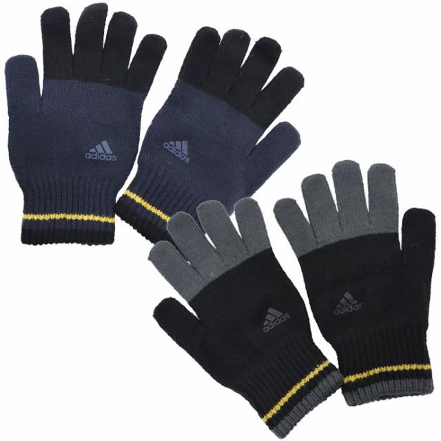 手袋 メンズ レディース 5本指 ニット手袋 adidas...