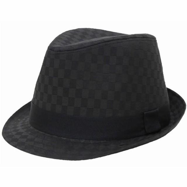 大きいサイズ 帽子 メンズ 中折れハット 65cm対応...