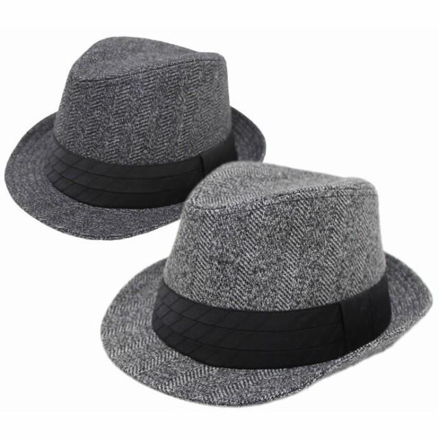 大きいサイズ 帽子 メンズ 中折れハット 秋冬 サ...