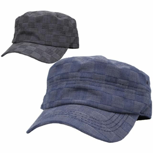 ワークキャップ メンズ 帽子 大きいサイズ チェッ...