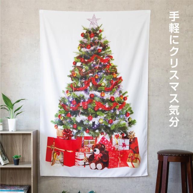 クリスマスツリー タペストリー クリスマス オ...