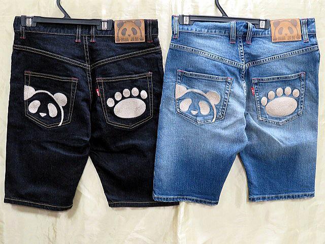 PANDIESTA JAPAN 熊猫謹製デニムショートパンツ...